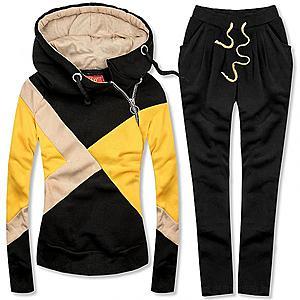 Butikmoda Többszínű melegítő szett - fekete, sárga és bézs színű kép