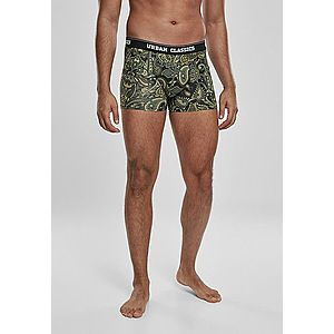 Urban Classics Boxer Shorts 3-Pack darkgreen/paisley/black kép