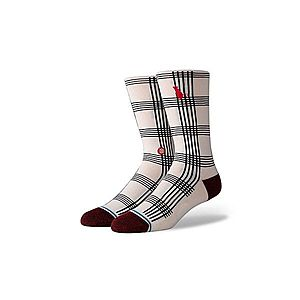 Stance Rat Plaid White-L kép