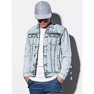 Ombre Clothing Modern halvány kék farmer dzseki C441 kép