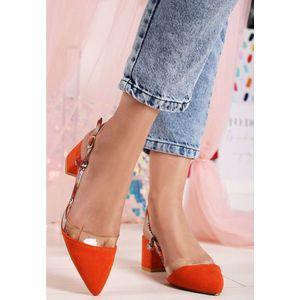 Briena v1 narancssárga magassarkú cipők kép