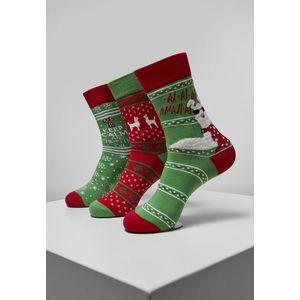 Urban Classics Christmas Lama Socks 3-Pack multicolor kép