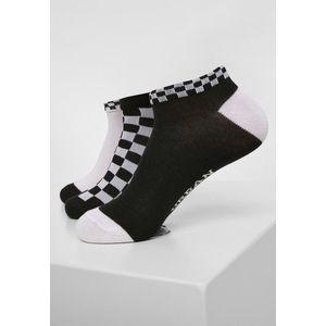 Urban Classics Sneaker Socks Checks 3-Pack black/white kép