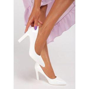 Devina fehér magassarkú cipők kép