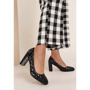 Alejandra fekete magassarkú cipők kép