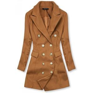 Butikmoda Barna színű elegáns őszi kabát kép