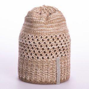 Női téli sapka a hidegebb - barnásszürke - Méretet uni kép
