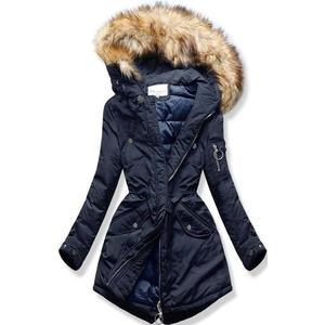 Butikmoda Sötétkék színű steppelt téli kabát kép