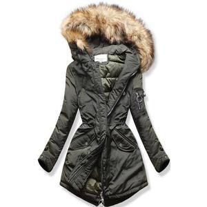 Butikmoda Khaki színű steppelt téli kabát kép
