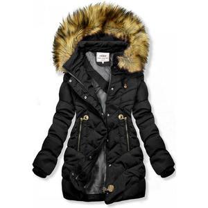 Butikmoda Fekete színű steppelt kabát az őszi/téli időszakra kép