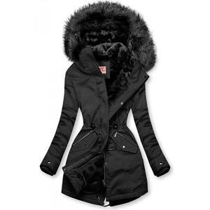 Butikmoda Fekete színű meleg téli parka kép