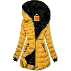 Női téli kabát cipzáras steppelt szürke kép