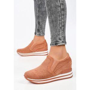 Nesia narancssárga telitalpú sneakers kép
