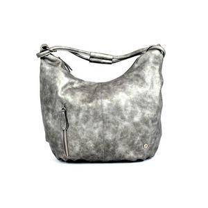 """Vállpántos táska """"Borgia"""" - ezüst - Méretet 48x36x12 cm kép"""