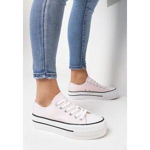 Machera rózsaszín telitalpú tornacipő kép