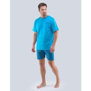 Türkizkék nyári pizsama Good Vibes kép