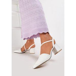 Kelis fehér magassarkú cipők kép