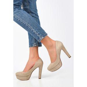 Impression bézs magassarkú cipők kép