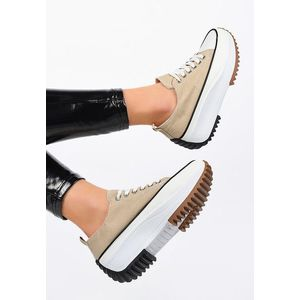 Doreida bézs telitalpú tornacipő kép