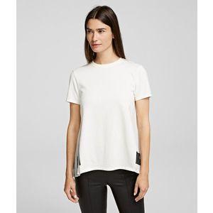 Póló Karl Lagerfeld Pleated Fabric Mix T-Shirt kép