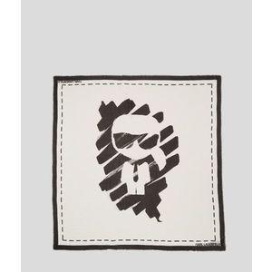 Sál Karl Lagerfeld Ikonik Graffiti Scarf kép