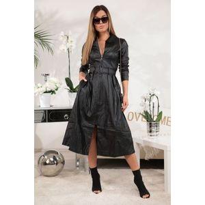 Italy Fashion egyedi megjelenésű bőr ruha kép