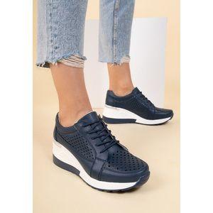 Alexia tengerészkék telitalpú sneakers kép