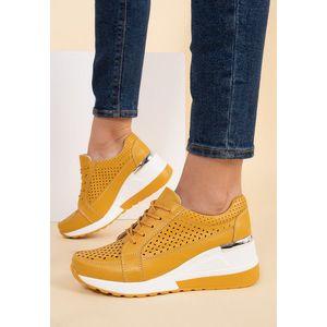 Alexia sárga telitalpú sneakers kép