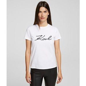Póló Karl Lagerfeld Logo Rhinestone T-Shirt kép