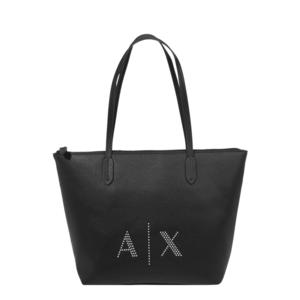 ARMANI EXCHANGE Shopper táska fekete / ezüst kép