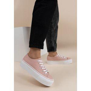 Janette rózsaszín telitalpú tornacipő kép