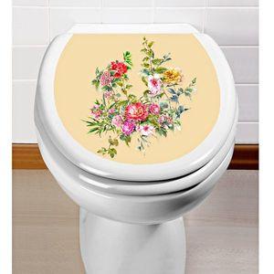 Virágos WC matrica kép