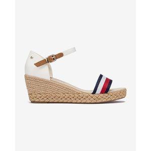 Tommy Hilfiger Shimmery Ribbon Telitalpú cipő Fehér kép