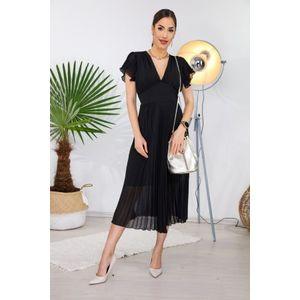 Italy Fashion - Pliszírozott maxi ruha kép