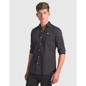 Férfi elegáns fekete ing kép