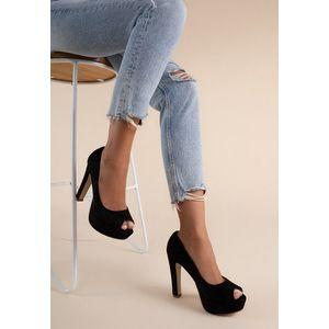 Medana fekete magassarkú cipők kép
