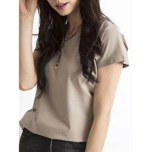 Basic dark beige T-shirt kép