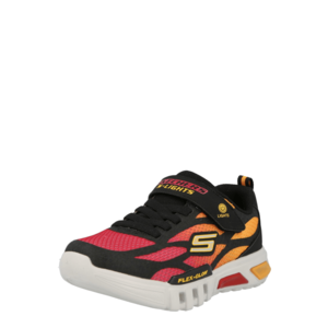 SKECHERS Sportcipő fekete / narancs / rózsaszín kép