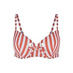 Skiny Bikini felső fehér / sötét narancssárga kép