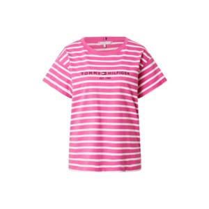 TOMMY HILFIGER Póló rózsaszín / fehér / tengerészkék / piros kép