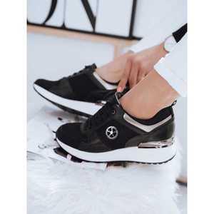 CHOCO women's black sneakers Dstreet ZY0058 kép