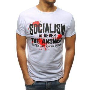 White t-shirt with print kép