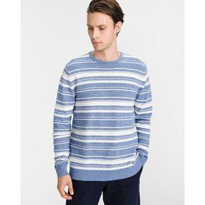 vékony csíkos pulóver kép