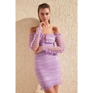 Női ruha Trendyol Tulle Detailed kép