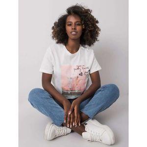 White women's t-shirt with a print kép