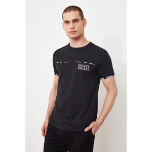 Trendyol Black Men's Regular Fit Crew Neck Short Sleeve T-Shirt kép