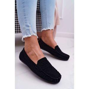 Women's Loafers Suede Black Bolero kép