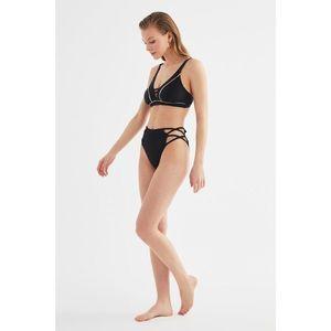 Trendyol Oil high waist Bikini bottom kép