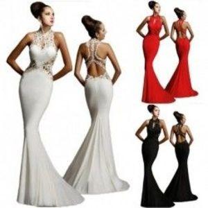 1 db női esküvői ruha estélyi ruha party alkalmi szexi divatos ruha kép