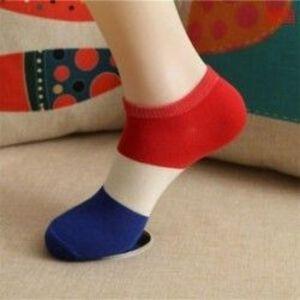 B-4 (rövid) Unisex pamut alkalmi többszínű zokni harisnya divat ruha férfi női zokni kép